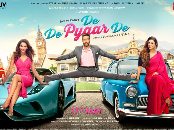 Ajay Devgn Split Between Rakul Preet and Tabu in 'De De Pyaar De'