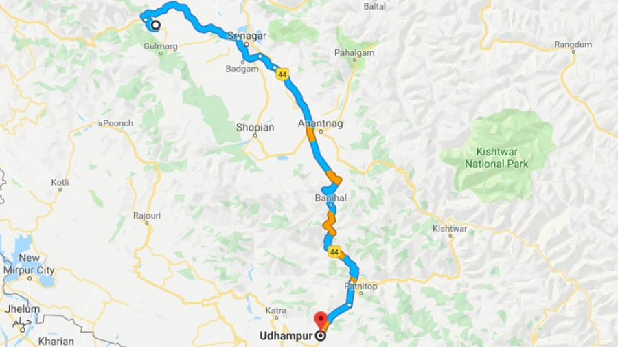 Civilian traffic barred from Baramulla to Udhampur highway a week till May 31 to avert terror attack
