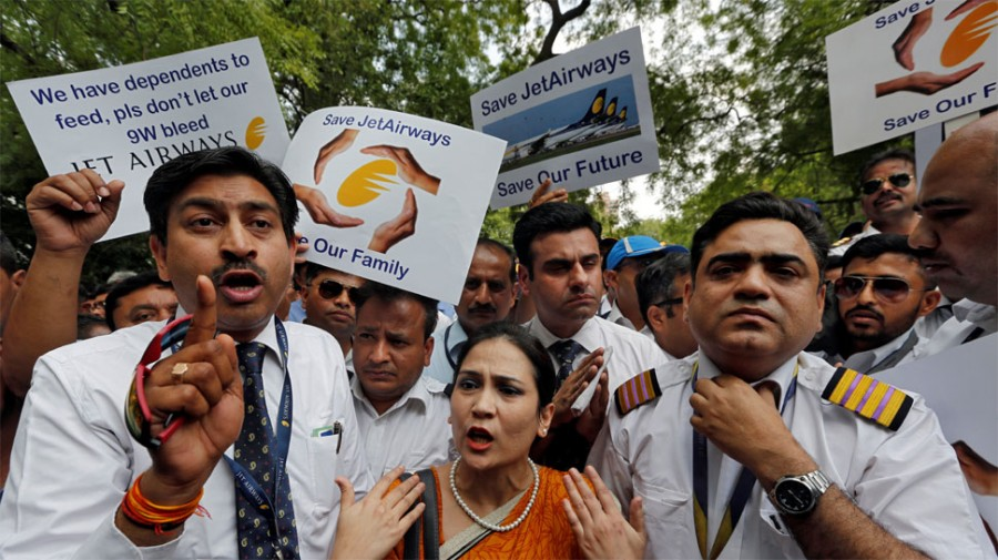 ''Can't sleep at night'': Despair over jobs as Jet Airways grounded