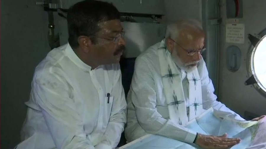 PM Modi conducts aerial survey in Odisha to take stock of Cyclone Fani-hit areas
