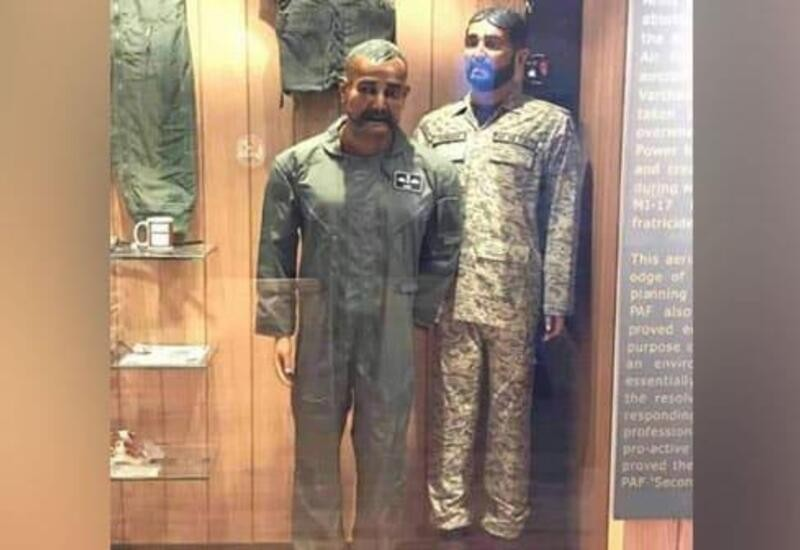 IAF Abhinandan Varthaman's Mannequin Displayed with Tea Cup at Pakistan Air Force War Museum