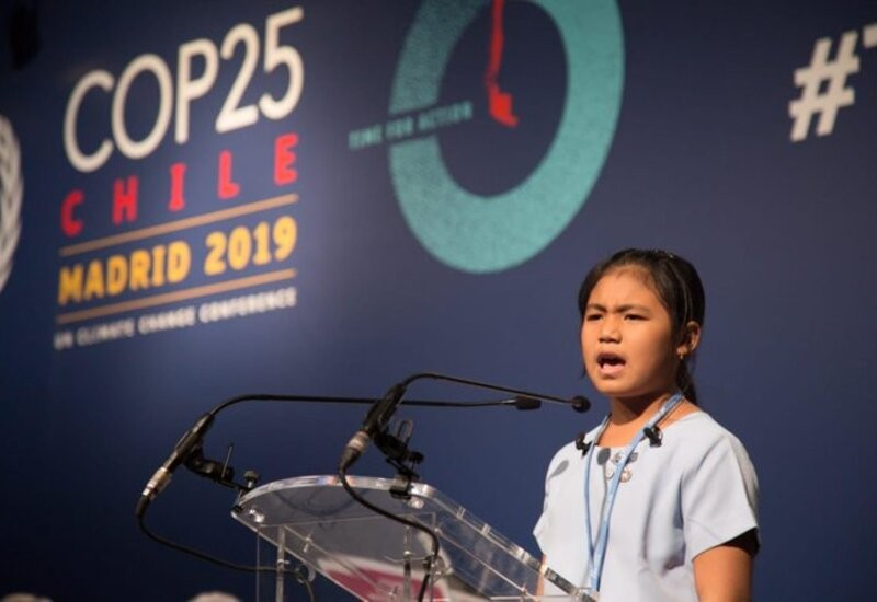 8-year-old Indian Girl challenges world leaders to act on climate change at COP25 in Madrid