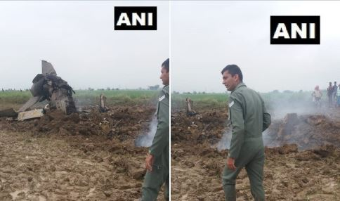 Indian Air Force trainer aircraft MiG-21 crashed in Gwalior