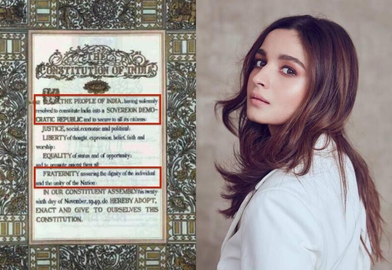 Alia Bhatt's pic shows wrong Preamble to Constitution of India, say Twitter users