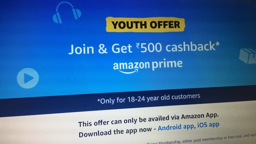 Amazon Prime Subscription Available at Half Price to 18 to 24-Year-Olds in India