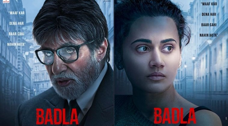 Badla first posters: Amitabh-Taapsee film's sneak peek will leave you intrigued