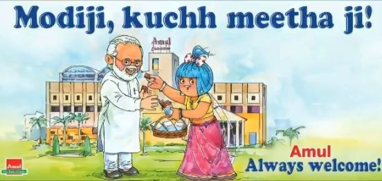 PM Modi 69th Birthday: Here's how Amul wished Prime Minister Narendra Modi