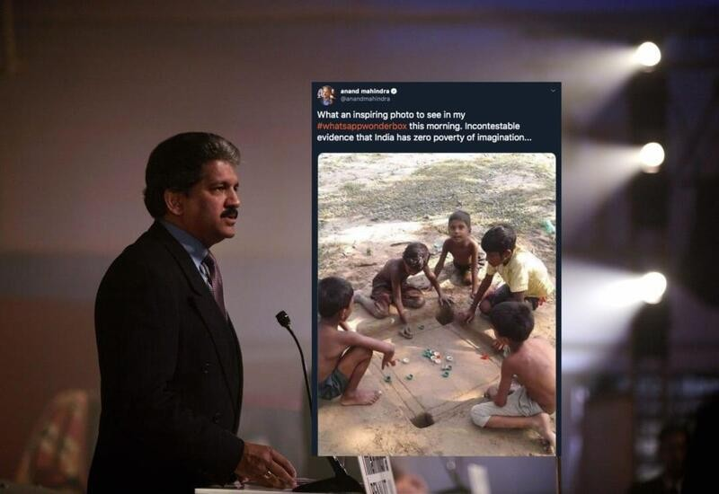 India has zero poverty of imagination: Mahindra on 'mud carrom board' pic