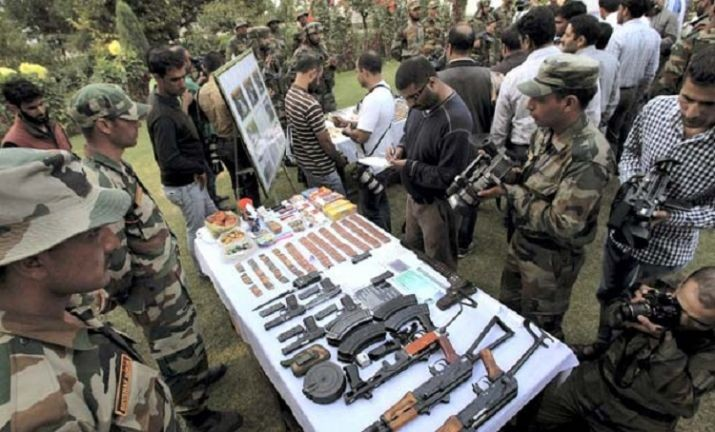 Jammu and Kashmir: One arrested as security forces bust militant hideout in Kulgam,arms & ammunition