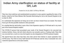 Army issues clarification after reports claim PM visited 'fake' hospital in Leh