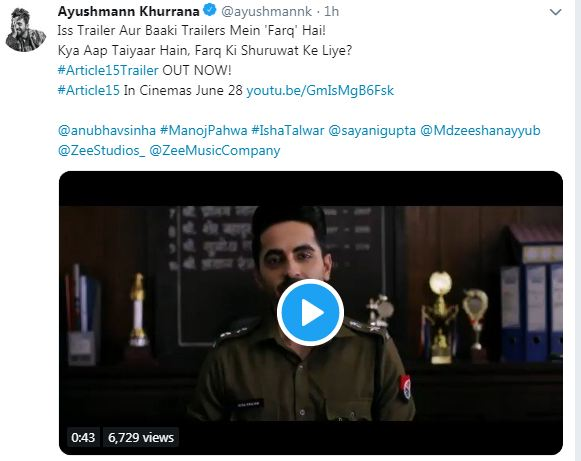 Before Article 15 trailer, Ayushmann Khurrana gives us a lesson in India's harsh caste reality