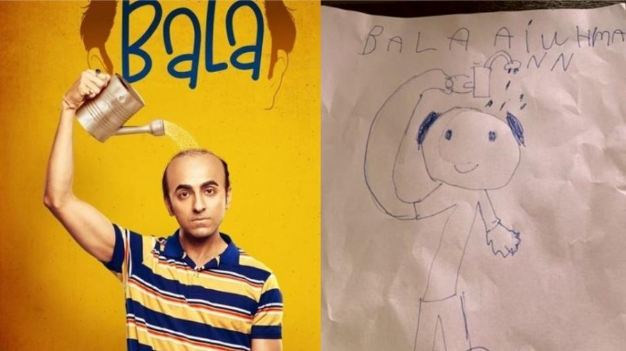 Ayushmann Khurrana's son makes his sketch from FIlm Bala, Tahira says this is his recall value of his dad