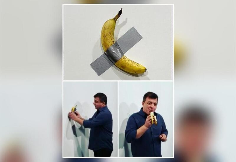 Performance artist eats ₹85 lakh banana duct-taped to wall, says he was hungry