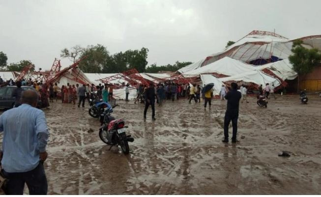 Rajasthan: 14 die, several injured after tent collapses due to rain in Barmer