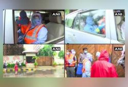 Sanitisation workers arrive at Big B's residence after he, son test COVID-19 +ve