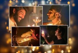 B'wood celebs light candles, diyas at 9pm on Sun; share pics