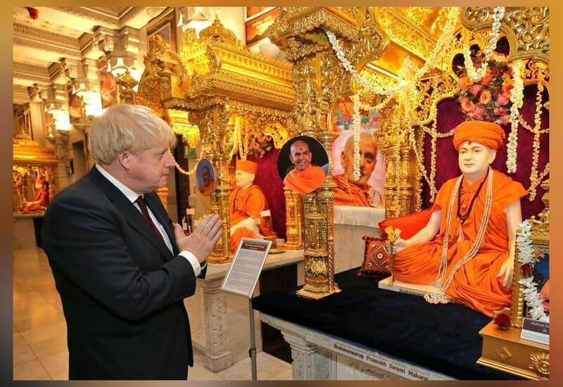 On temple visit, UK PM says he supports PM Modi to build new India
