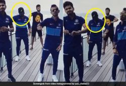 Chahal shares video dancing with teammates, fans ask 'Who is hiding his face?'