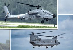 Boeing completes delivery of 22 Apache, 15 Chinook helicopters to IAF