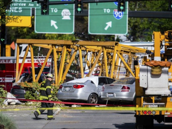 Four killed after crane falls from Google's new Seattle campus