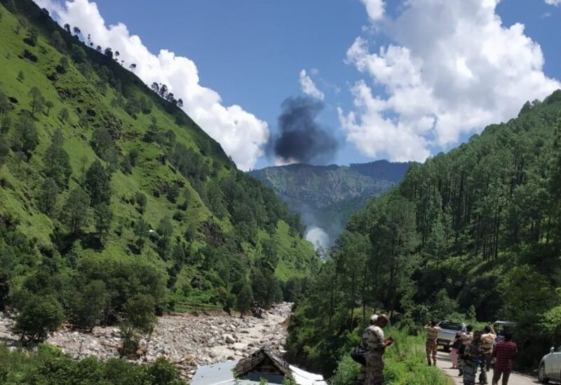 Helicopter carrying relief material crashes in Uttarkashi, 2 dead