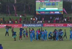 India, Bangladesh cricketers physically clash on ground after U-19 World Cup final