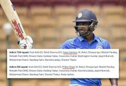 India squad for NZ ODIs out, Samson back in T20I squad as Dhawan's replacement