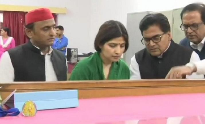 Lok Sabha Elections 2019:Samajwadi Party chief Akhilesh Yadav's wife Dimple Yadav files from Kannauj
