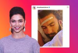 Deepika posts Ranveer's pic with 'husband' tag, he responds
