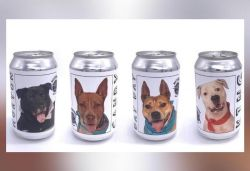 US brewery puts images of dogs in need of homes on beer cans
