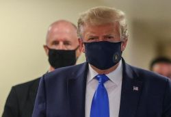 Trump wears face mask in public for 1st time since start of pandemic