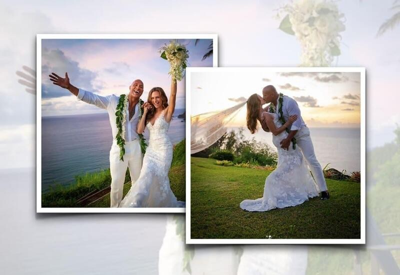 Dwayne Johnson gets married to long-time girlfriend; shares pics