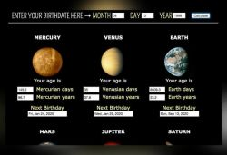 Website calculates people's age on any planet in Solar System