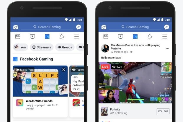 Facebook Rolling Out Dedicated Gaming Tab on Its Mobile App