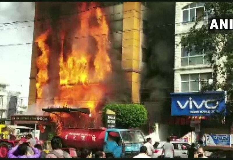 Major fire breaks out at hotel in Madhya Pradesh, many feared trapped