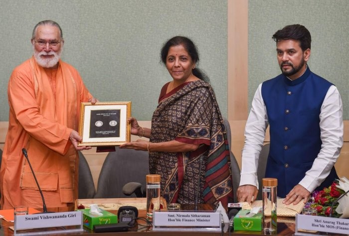 FM Released Commemorative Coin on Paramahansa Yogananda to Mark his 125th Birth Anniversary