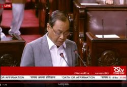 Former CJI Ranjan Gogoi takes oath as Rajya Sabha MP