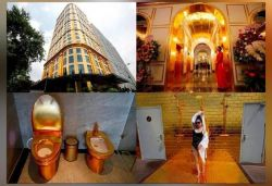 'Gold-plated' five-star hotel with golden bathtubs, toilets opens in Vietnam