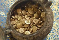 505 gold coins in copper vessel unearthed in Tamil Nadu temple