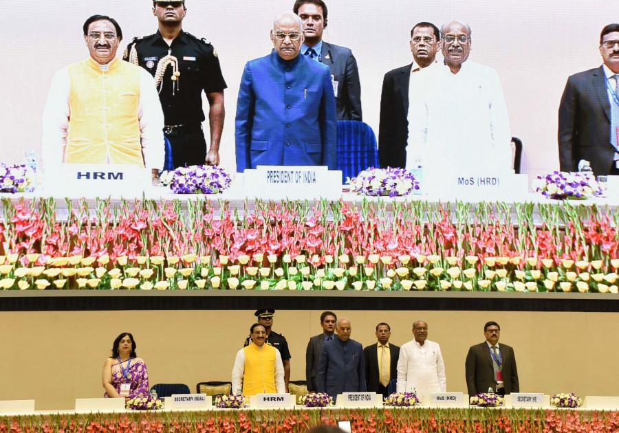 President of India presents national awards to meritorious teachers on the occasion of Teachers' Day