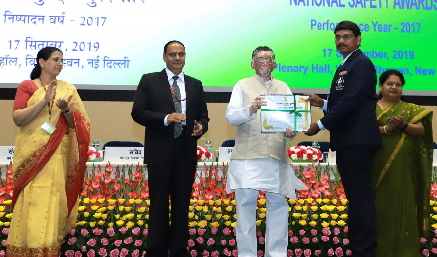 Vishwakarma  Puraskar & National Safety Awards, Office of EPFO, DG FASLI & DG Mines in J&K : Gangwar