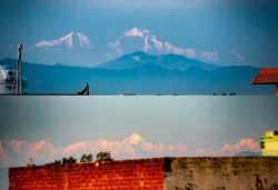 Himalayas seen from Saharanpur 200 km away due to less pollution, pics surface