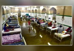 Hyderabad's Osmania General Hospital gets flooded after heavy rains