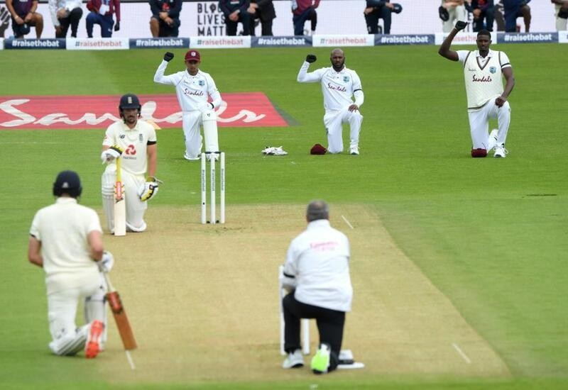 Players, umpires take a knee ahead of 1st England-WI Test; ICC share pic