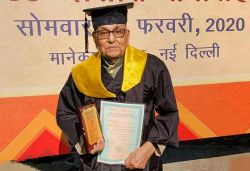 93-yr-old man completes his master's in public administration from IGNOU