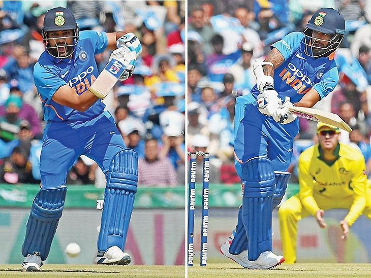 India vs Australia : 4th ODI: Dhawan 143 and Rohit 95 give India 358 in Mohali
