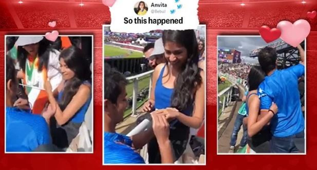 World Cup 2019: Indian fan proposes to girlfriend during India-Pak match