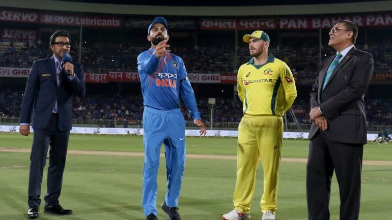 India vs Australia Live Score, 1st ODI: Australia opt to bat, India include Jadeja