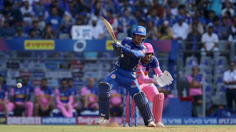 MI vs RR, IPL 2019: De kock 81, Rohit 47 fire Mumbai to 187 for 5, RR needs 188 to win