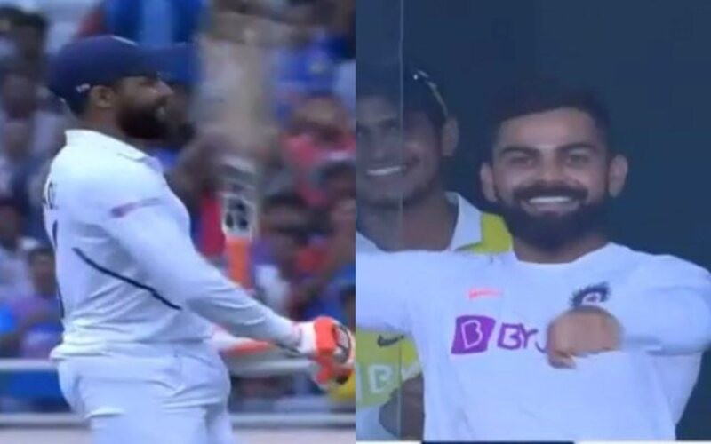 Kohli asks Jadeja to 'ride a horse' while doing sword celebration